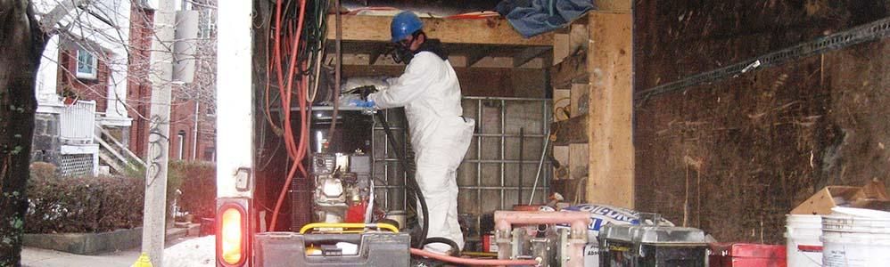 Oil Spill at Triple-decker Home in Dorchester