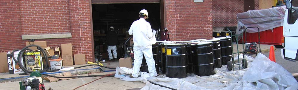 Somerville High School Oil Spill Cleanup