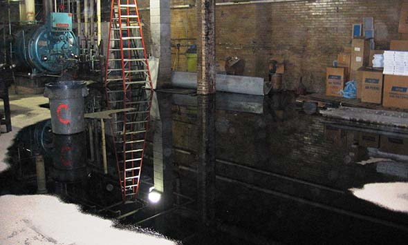 Oil spill that occurred in the Somerville High School basement
