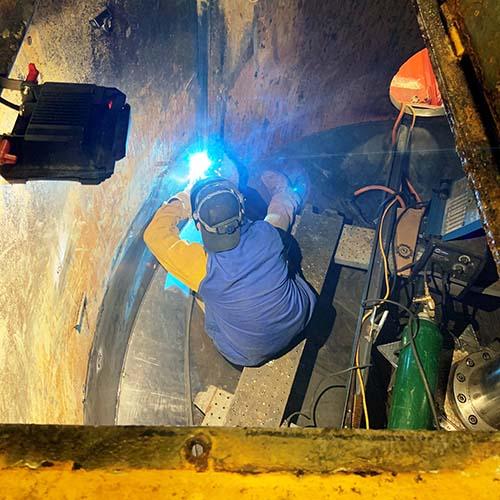 Aboveground water tank repair