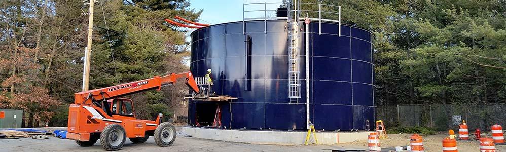Bolted Water Storage Tank Installation
