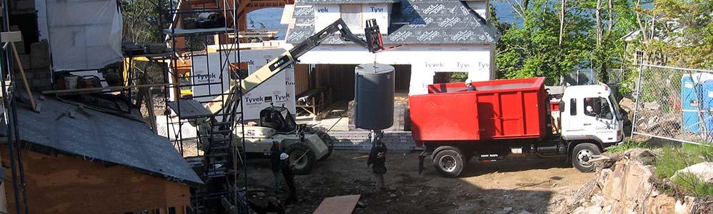900-gallon Residential Oil Tank Installation