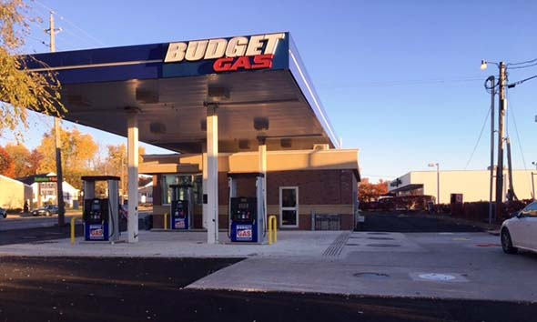 Budget Gas Station with upgraded piping and new fuel dispensers