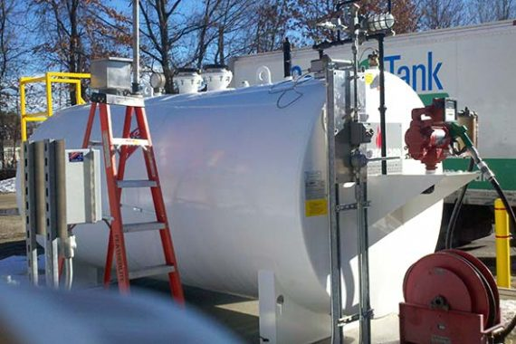 Diesel storage tank with Fill-Rite dispenser