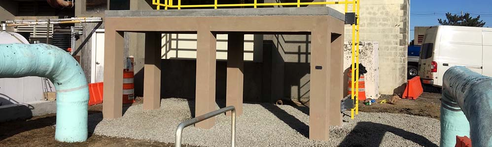 Chain Wall Installation at Wastewater Treatment Plant