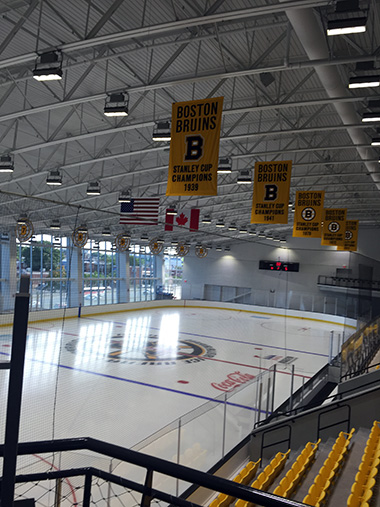 An inside view of the new Warrior Ice Arena