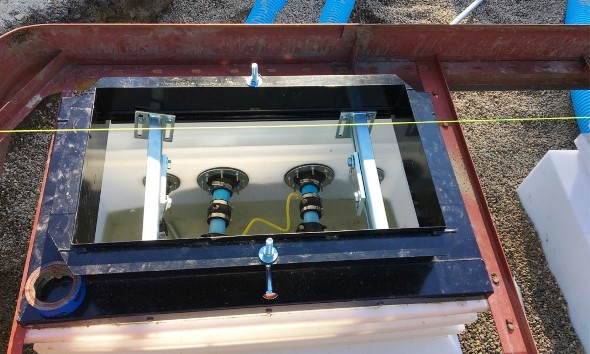 Fuel dispenser sump is hydrostatically tested