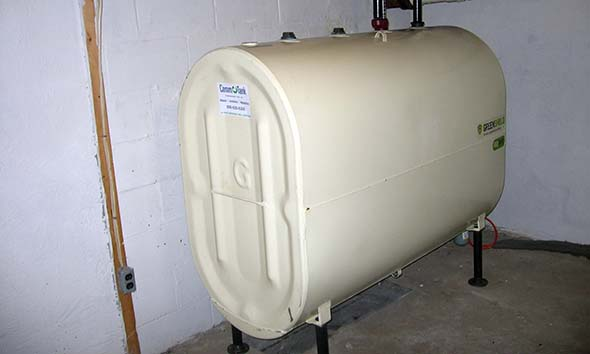 Example of Granby Tank installed in a basement.