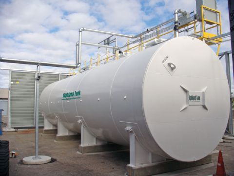 Photo of a water storage tank used in fire protection