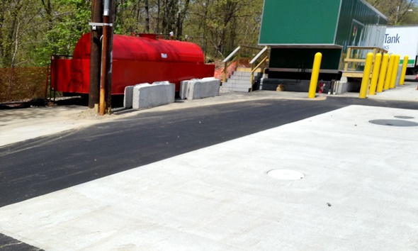 Temp Generator Tank at Lawrence Memorial Hospital