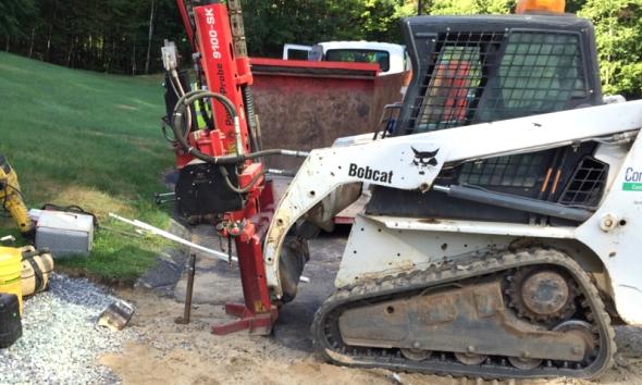 Bobcat with AMS Powerprobe advancing a soil sample
