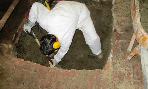 Contaminated soil excavation in basement under an Massachusetts LRA