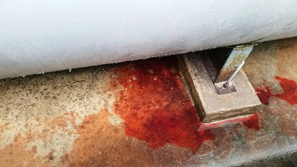 A Diesel Fuel Leak Captured in Secondary Containment