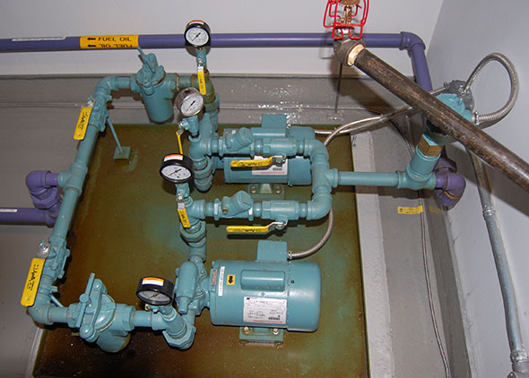 Duplex Pump Set Installed Inside Steel Containment Tray