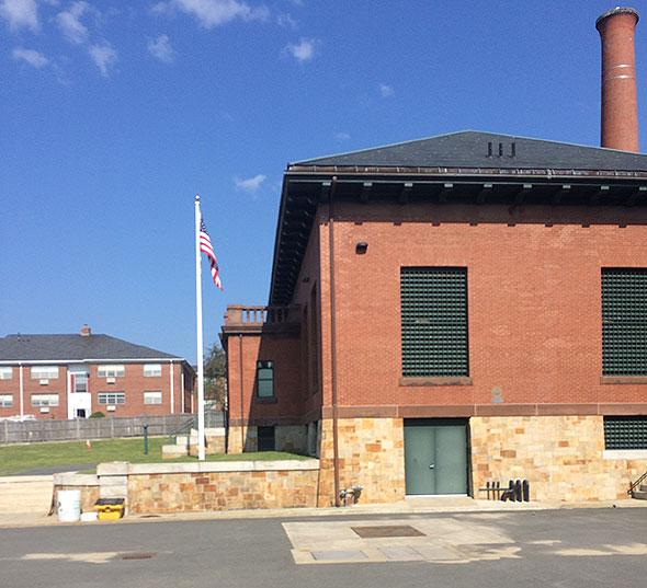 Photo of the Massachusetts Water Resource Authority pump station