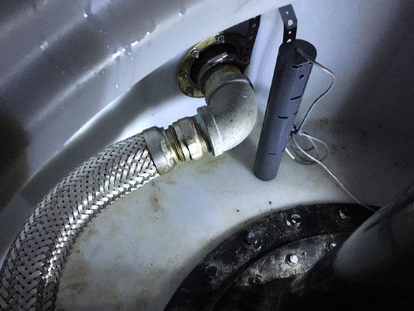 Photo of an underground storage tank sump sensor