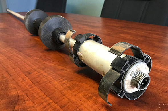 Photo of a Veeder-Root magnetostrictive probe.