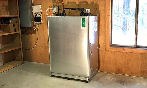 Roth oil tank installed in Acton Massachusetts home