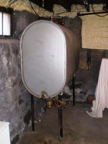 Residential oil tank in Marblehead, Massachuttes
