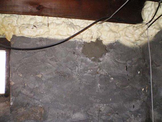 Concrete wall patch