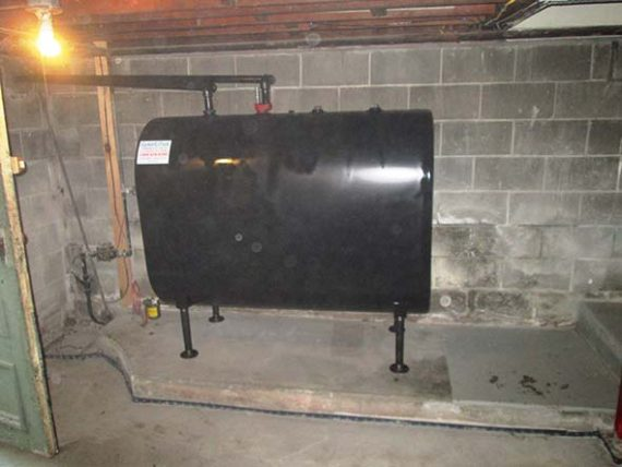 New Granby tank installed in Wilmington, Massachusetts home.