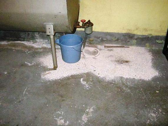 Leaky basement oil tank in Wakefield, Ma