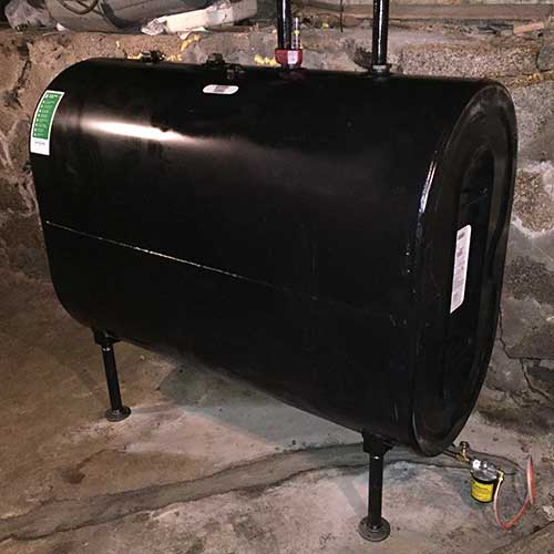 Granby oil tank replacement project in Massachusetts.