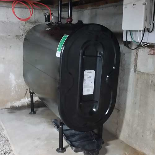 Photo of oil tank replaced by CommTank in Massachusetts.