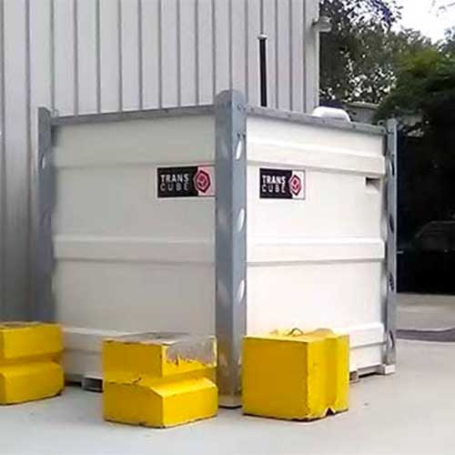 Temporary fuel storage tank rental.