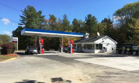 Completed gas station construction project