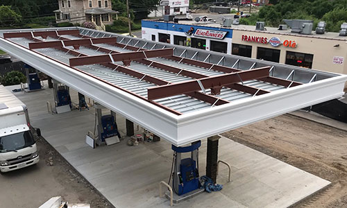 Gas Station Canopy Construction